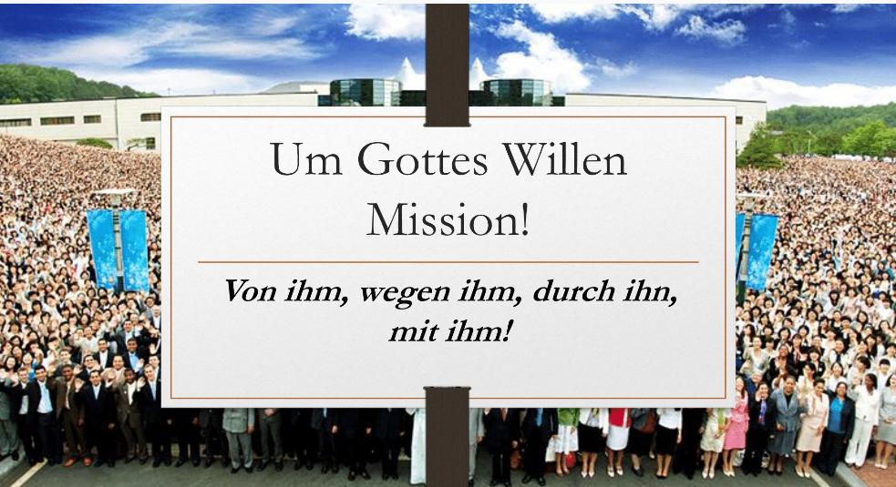 Um Gottes Willen – Mission?